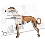 Hortaya Borzaya Dog Intarsia or Yard Art Woodworking Pattern