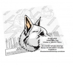 Indian Spitz Dog Intarsia or Yard Art Woodworking Pattern