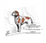 05-WC-0538 - Istrian Coarse Haired Hound Dog Intarsia or Yard Art Woodworking Plan