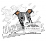 Italian Greyhound Dog Intarsia or Yard Art Woodworking Plan