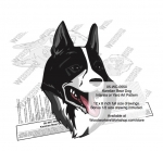 Karelian Bear Dog Intarsia or Yard Art Woodworking Plan