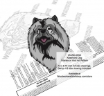 Keeshond Dog Intarsia or Yard Art Woodworking Plan woodworking plan