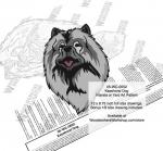 Keeshond Dog Intarsia or Yard Art Woodworking Plan