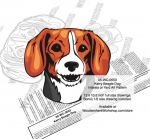 Kerry Beagle Dog Intarsia or Yard Art Woodworking Plan