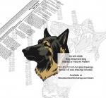 King Shepherd Dog Intarsia or Yard Art Woodworking Plan