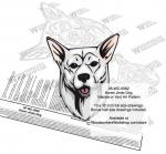 Korean Jindo Dog Intarsia or Yard Art Woodworking Plan Kanni
