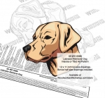Labrador Retriever Dog Intarsia or Yard Art Woodworking Plan