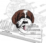 05-WC-0569 - Lagotto Romagnolo Dog Intarsia or Yard Art Woodworking Plan