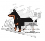 Lancashire Heeler Dog Intarsia or Yard Art Woodworking Plan