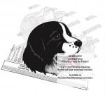 Landseer Dog Intarsia or Yard Art Woodworking Plan
