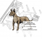 05-WC-0584 - Mexican Hairless Dog Intarsia or Yard Art Woodworking Plan