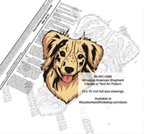 Miniature American Shepherd Dog Intarsia or Yard Art Woodworking Plan