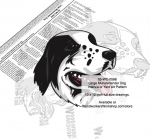 fee plans woodworking resource from WoodworkersWorkshop® Online Store - The Large Münsterländer is a breed of gun dog originally from the Münster region in Germany. Full size drawings. Bonus half size drawing included. Custom sizing available. dogs,pets,animals,dog breeds