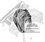 Neapolitan Mastiff Dog Intarsia or Yard Art Woodworking Plan