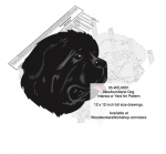 05-WC-0601 - Newfoundland Dog Intarsia or Yard Art Woodworking Plan