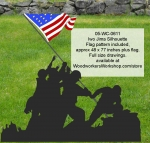 05-WC-0611 - Iwo Jima Silhouette Yard Art Woodworking Pattern