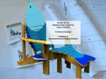Fish Chair Maritime East Coast Full Size Woodworking Plan, fish chairs,adirondack furniture,maritimes,outdoors,fishing,fishermans,fishermens,yard art,painting wood crafts,scrollsawing patterns,drawings,plywood,plywoodworking plans,woodworkers projects,worksho