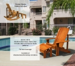 Maritime Adirondack Style Chair Yard Furniture Woodworking Pattern woodworking plan