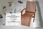 Maritime Take-r-Easy Lounge Chair and Foldaway Stool Woodworking Plan