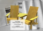 fee plans woodworking resource from WoodworkersWorkshop® Online Store - Maritimes,side-by-side,outdoors wooden furniture,Adirondack style chairs,wood crafts,schematics,drawings,plywood,plywoodworking plans,woodworkers projects,workshop blueprints