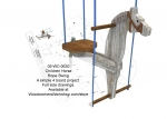 Childrens Horse Rope Swing Woodworking Plan.