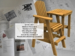 Maritime Bar Stool and Table Combo Full Size Woodworking Plans woodworking plan