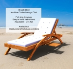 Maritime Arch Chaise Lounge Chair Woodworking Plan, lounger,lounge,chaise,patio furniture,chairs,ease-back,comfortable wooden furniture,woodworking plans,woodworkers projects,workshop blueprints