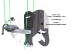 05-WC-0636 - Childrens Elephant Rope Swing Full Size Woodworking Pattern