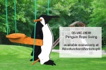 Childrens Penguin Rope Swing Yard Art Woodworking Pattern, penguins,rope swings,childrens,kids,playground,swinging,yard art,painting wood crafts,scrollsawing patterns,drawings,plywood,plywoodworking plans,woodworkers projects,workshop blueprints