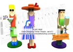 Gone Shopping Timber People Yard Art Woodworking Pattern, gone shopping,girls,women,fun,timber people,yard art,painting wood crafts,scrollsawing patterns,drawings,plywood,plywoodworking plans,woodworkers projects,workshop blueprints