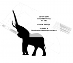 Elephant Feeding 8ft tall Yard Art Jig Saw Woodworking Pattern