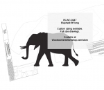 Elephant 8ft long Yard Art Woodworking Pattern woodworking plan