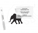 Elephant Baby 3 ft tall Yard Art Woodworking Pattern woodworking plan