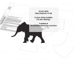 Elephant Baby 4 ft tall Yard Art Woodworking Pattern woodworking plan