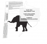 Elephant Baby 2 ft tall Yard Art Woodworking Pattern woodworking plan
