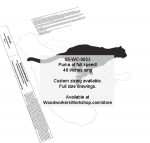 Puma at full spped Silhouette Yard Art Jig Saw Woodworking Pattern