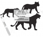 Lioness with Cubs Silhouette Yard Art Jig Saw Woodworking Pattern woodworking plan