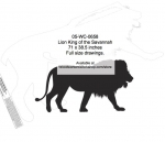 05-WC-0658 - Lion King of the Savannah Silhouette Yard Art Woodworking Pattern