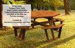 Octagon Picnic Table with removable top Woodworking Plan.
