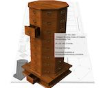 05-WC-0661 - Octagon Rotating Tower of Drawers Woodworking Plan