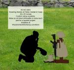 Kneeling Soldier at Fallen Soldiers Cross Yard Art Silhouette Pattern