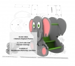 05-WC-0664 - Childrens Elephant Rocker with hideaway compartment Woodworking Plan.