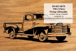 1953 Chevy Pickup Truck Scrollsaw Silhouette woodworking plan