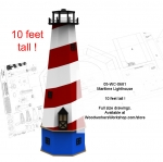 05-WC-0681E - Maritime Lighthouse 10 ft tall Full Size Woodworking Plans.