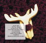 Moose Pet Pin Scrollsaw Woodworking Pattern.