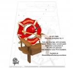 Volunteer Firefighter Chair No.4 Woodworking Pattern.