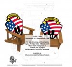 05-WC-0686 - Remember 9-11 Adirondack Chair Woodworking Plan.
