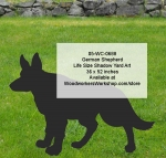 05-WC-0688 - German Shepherd Life Size Yard Art Woodworking Pattern
