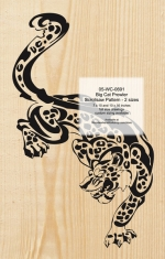05-WC-0691 - Big Cat Prowler Scrollsaw Art Woodworking Pattern - 2 sizes included