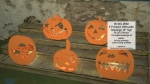05-WC-0692 - Pumpkin Silhouette Woodworking Set of 5 Patterns PLUS 5 Bonus Drawings